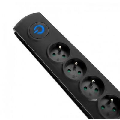Qoltec 50112 surge protector 6 AC outlet(s) 230 V 3 m Black