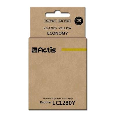 Actis KB-1280Y ink cartridge for Brother printer (Brother LC-1280Y replacement) standard