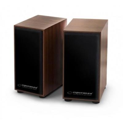 Esperanza 2.0 FOLK speaker set 2.0 channels 6 W Wood